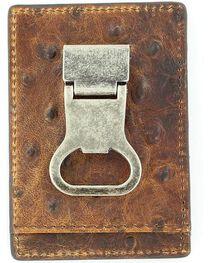 Nocona Ostrich Print Money Clip Wallet, , hi-res