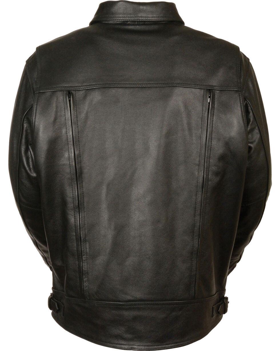 Milwaukee Leather Men's High End Utility Pocket Vented Cruiser Jacket - 3X, Black, hi-res
