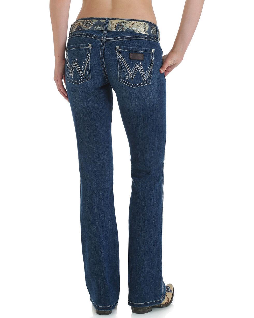 Wrangler Women's Premium Patch Sadie Boot Cut Jeans, Indigo, hi-res