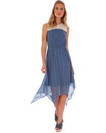 Wrangler Women's Navy Sleeveless Crochet Front Dress, , hi-res
