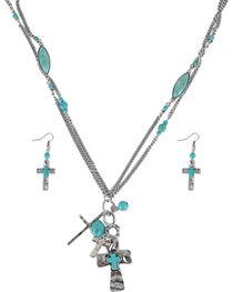 Shyanne® Women's Cross Charm Jewelry Set, , hi-res
