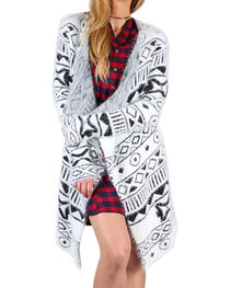 Shyanne® Women's Tribal Patterned Draping Cardigan, , hi-res