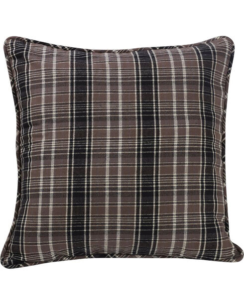 HiEnd Accents Whistler Plaid Euro Sham Accent Pillow, Multi, hi-res