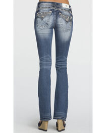 Miss Me Women's Embroidered Back Pocket Mid Rise Jeans - Boot Cut, , hi-res