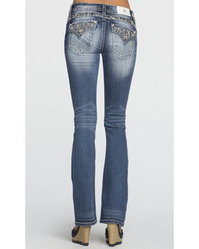 Miss Me Women's Embroidered Back Pocket Mid Rise Jeans - Boot Cut, Indigo, hi-res