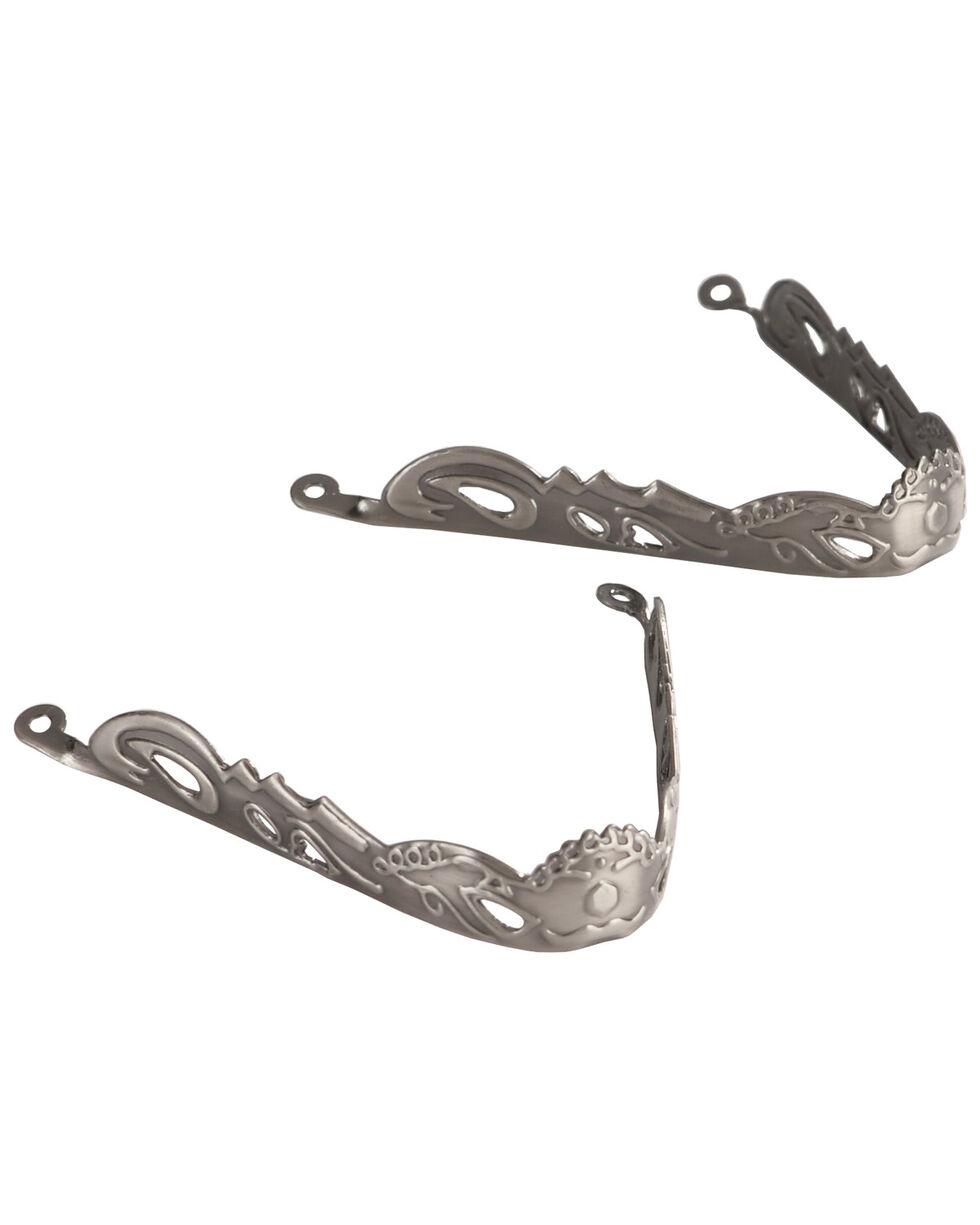 Johnny Ringo Men's Nickel Etched Toe Tip, Silver, hi-res