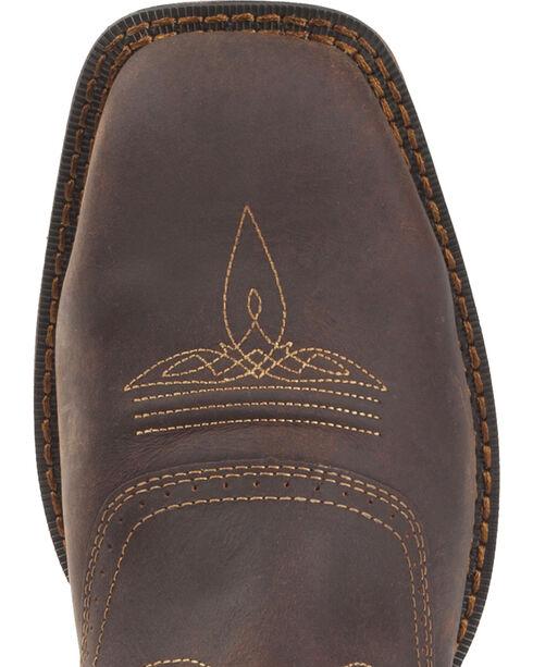 Rebel by Durango Men's Waterproof Steel Toe Western Work Boots, Brown, hi-res
