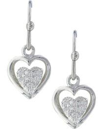 Montana Silversmiths Women's Pulsing Heart Earrings , , hi-res