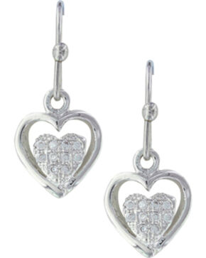 Montana Silversmiths Women's Pulsing Heart Earrings , Silver, hi-res