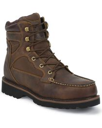 "Justin Men's Light Duty 6"" Composition Toe Lace-Up Work Boots, , hi-res"