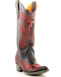 Gameday Texas Tech Cowgirl Boots - Pointed Toe, Black, hi-res