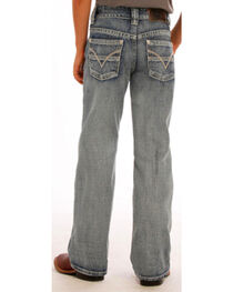 "Rock & Roll Cowboy Boys' Flying ""V"" Jeans - Boot Cut , , hi-res"