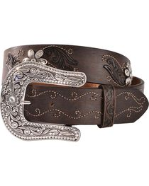 Justin Women's Country Daisy Belt, , hi-res