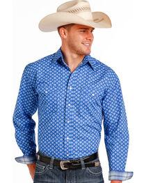 Panhandle Slim Men's Blue Stablecrest Vintage Print Long Sleeve Shirt , , hi-res