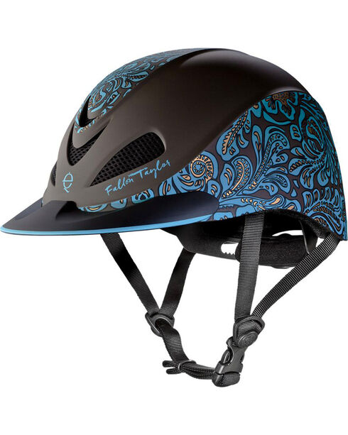 Troxel Women's Fallon Taylor Barrel Racing Helmet, Turquoise, hi-res