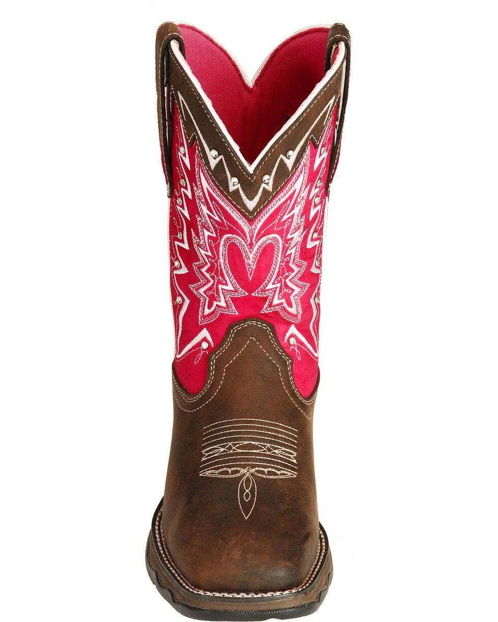 Durango Women's Pink Ribbon Lady Rebel Western Boots, Distressed, hi-res