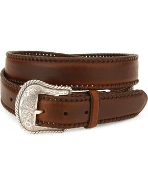 Nocona Men's Leather Concho Belt, Brown, hi-res