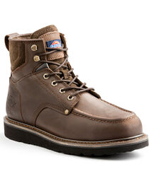 "Dickies Men's Brown Outpost 6"" Work Boots - Steel Toe, , hi-res"