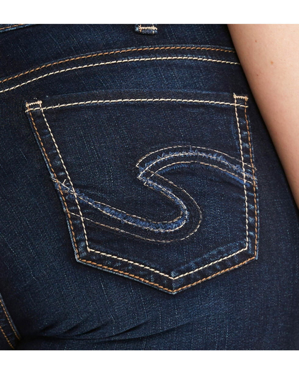 Silver Women's Suki Straight Jeans - Plus Size, Indigo, hi-res