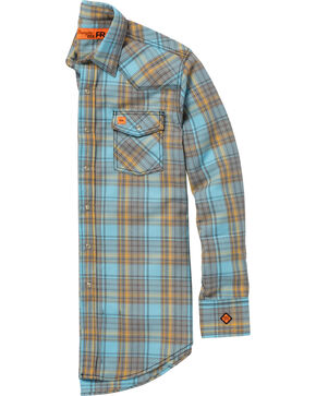 Wrangler Men's Light Blue 20X Flame-Resistant Shirt , Light Blue, hi-res