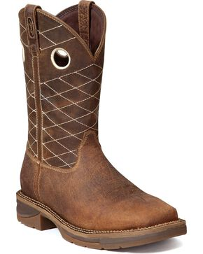 Durango Men's Workin Rebel Composite Toe Work Boots, Chocolate, hi-res