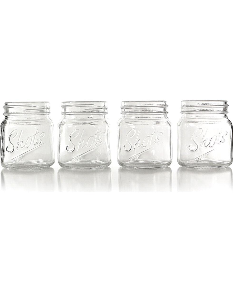 Barbuzzo Mason Jar Shot Glass Set, No Color, hi-res