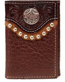 PBR Round PBR Concho Tri-fold Wallet, , hi-res