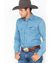 Wrangler Men's Long Sleeve Twill Work Shirt, , hi-res