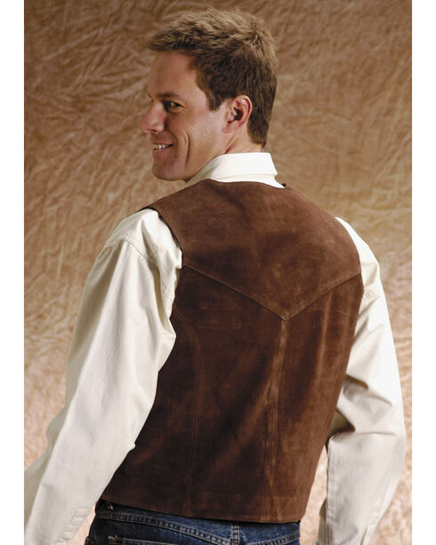 Roper Suede Vest - Big and Tall, Brown, hi-res