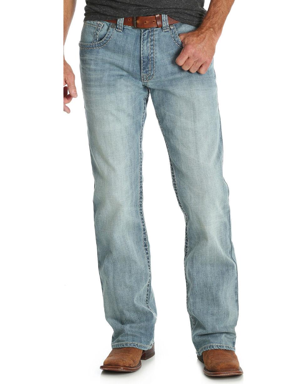 Wrangler Rock 47 Men's Blue Relaxed Fit Jeans - Boot Cut , Blue, hi-res