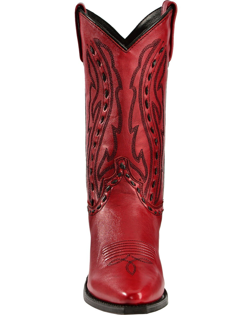 "Abilene Women's 11"" Hand-Laced Western Boots, Red, hi-res"