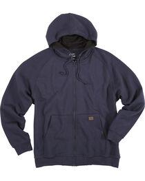Wrangler Men's Navy Riggs Workwear Full Zip Hooded Sweatshirt , , hi-res