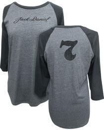 Jack Daniel's Women's 3/4 Sleeve Signature Baseball Tee, , hi-res