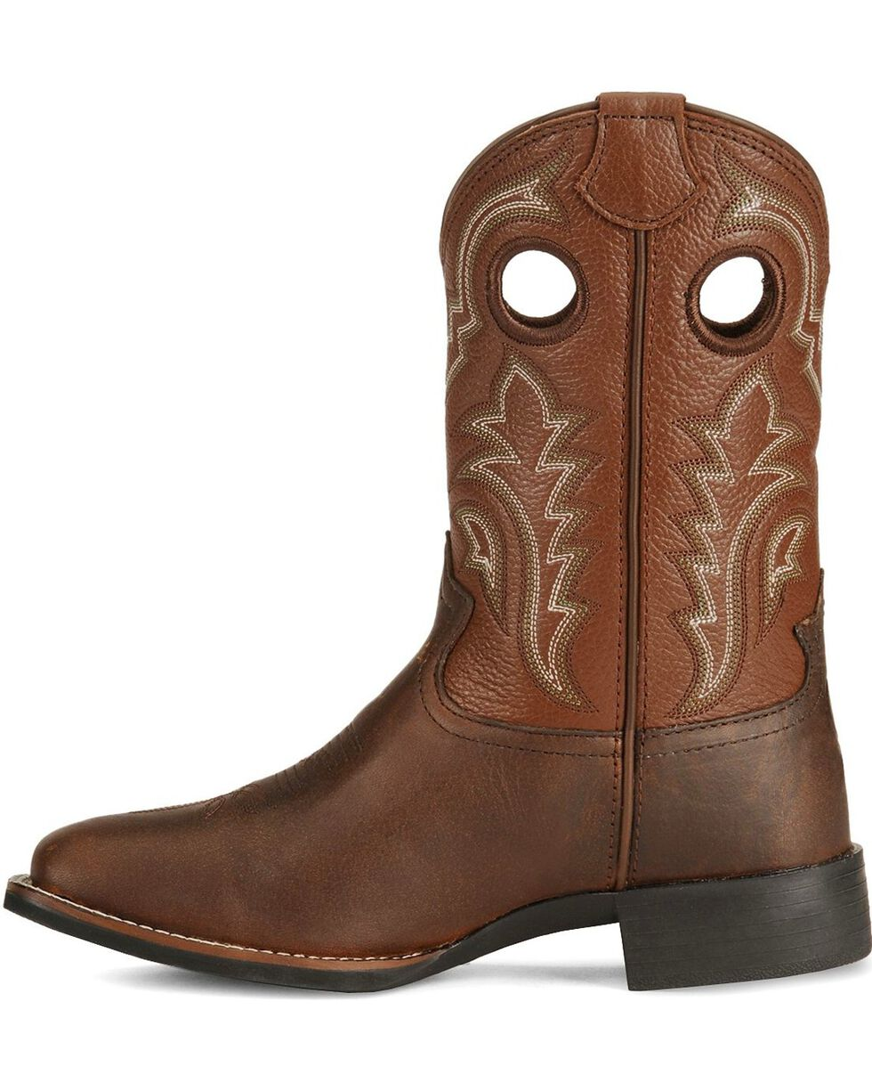 Tony Lama Youth Boys' Tiny Lama 3R Tan Cowboy Boots - Square, Tan, hi-res