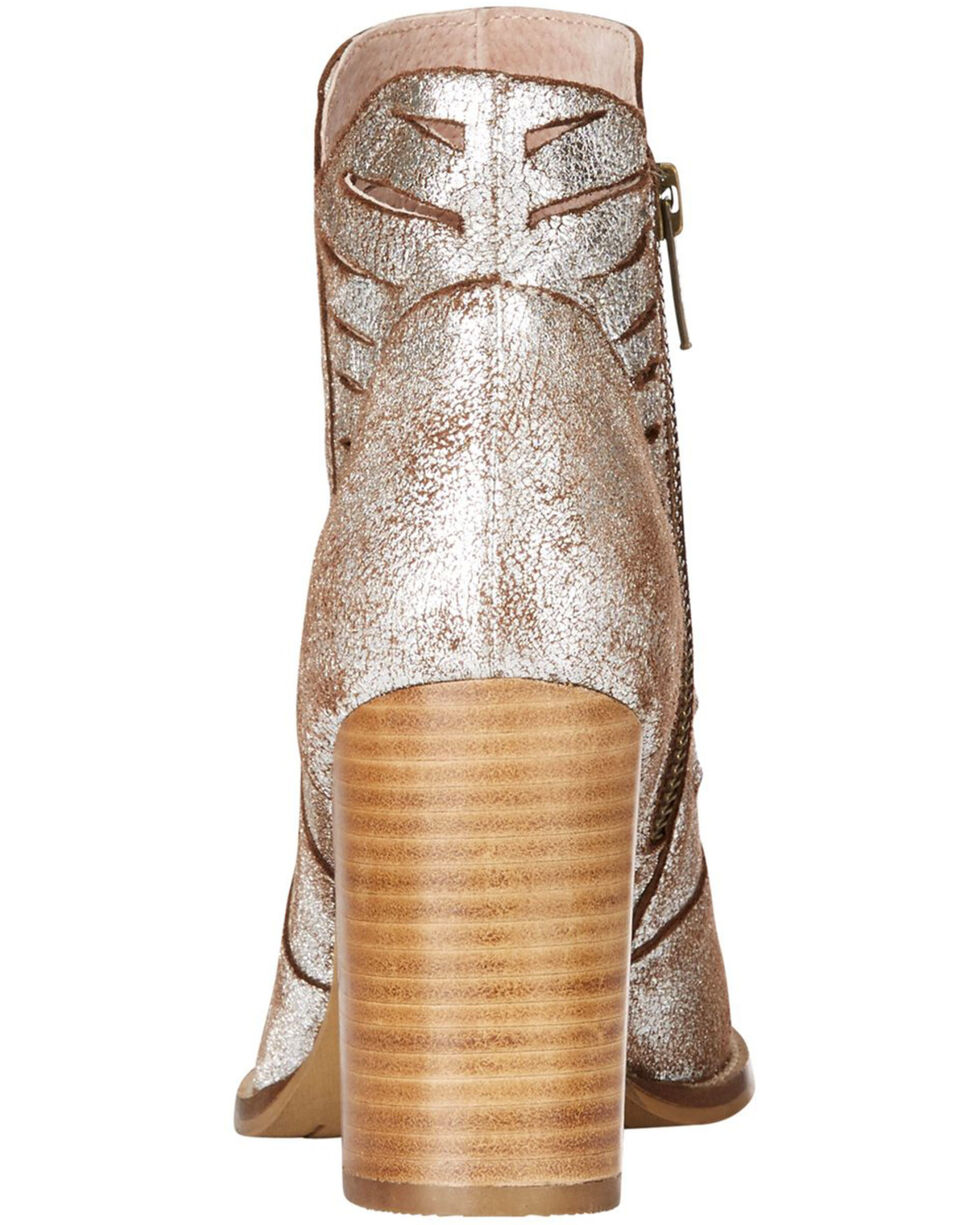 Ariat Women's Metallic Unbridled Adriana Suede Boots - Round Toe , Silver, hi-res