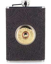 BB Ranch® 12 Gauge Tooled 8 OZ. Flask, , hi-res