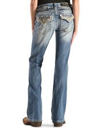 Miss Me Girls' Embellished Back Flap Pocket Jeans - Boot Cut , , hi-res