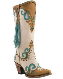 Lane Women's Royal Side Fringe Western Boots, , hi-res