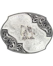 Montana Silversmiths Lace Whisper Flourish Belt Buckle, , hi-res