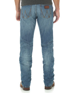 Wrangler Retro Men's Slim Fit Straight Leg Light Wash Jeans, Indigo, hi-res