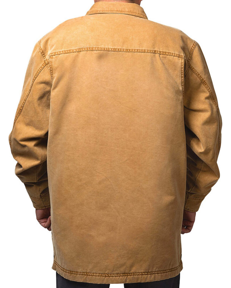 Walls Men's Vintage Fleece Lined Shirt Jacket, Pecan, hi-res