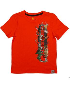 Carhartt Boys' Camo Logo T-Shirt, Orange, hi-res