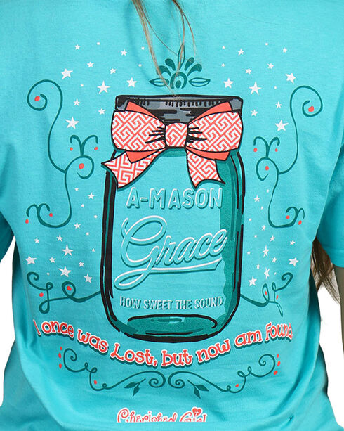 "Cherished Girl Women's ""A Mason Grace"" Graphic Tee, Light/pastel Green, hi-res"