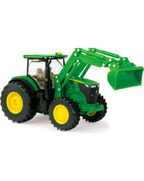 John Deere Toy Tractor with Loader, No Color, hi-res