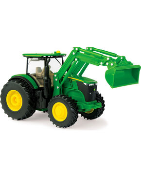 John Deere Toy Tractor with Loader, No Color, hi-res