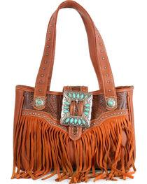 Trinity Ranch Women's Fringe Buckle Shoulder Bag, , hi-res