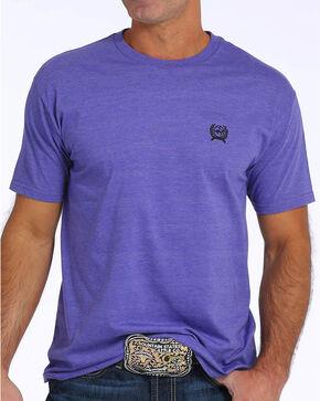 Cinch Men's Purple Graphic Short Sleeve Jersey Tee, Purple, hi-res