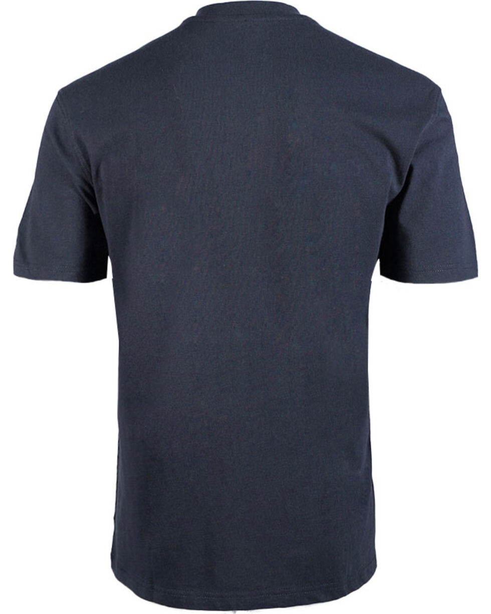 American Worker Men's Solid Short Sleeve T-Shirt - Big & Tall, Navy, hi-res