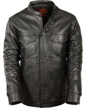 Milwaukee Leather Men's Black Club Style Shirt Jacket , Black, hi-res