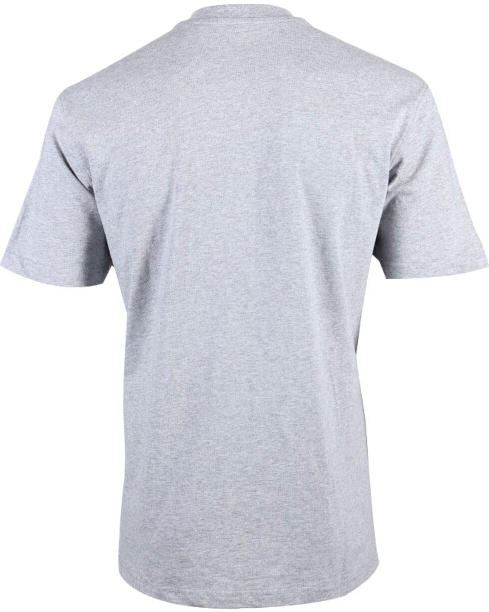 American Worker® Men's Solid Short Sleeve T-Shirt, Heather Grey, hi-res